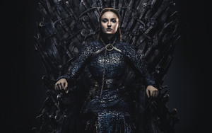Preview wallpaper of Sansa Stark, Sophie Turner, Game of Throne, Throne