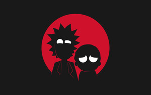 Preview wallpaper of TV Show, Rick and Morty, Minimalism
