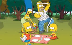Preview wallpaper of Bart, Homer, Lisa, Maggie, Marge, The Simpsons