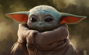 Preview wallpaper Baby Yoda, Star Wars, The Mandalorian