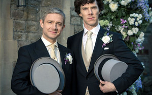 Preview wallpaper of Sherlock, Benedict Cumberbatch, Martin Freeman