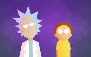 Preview wallpaper of Minimalist, Morty Smith, Rick Sanchez