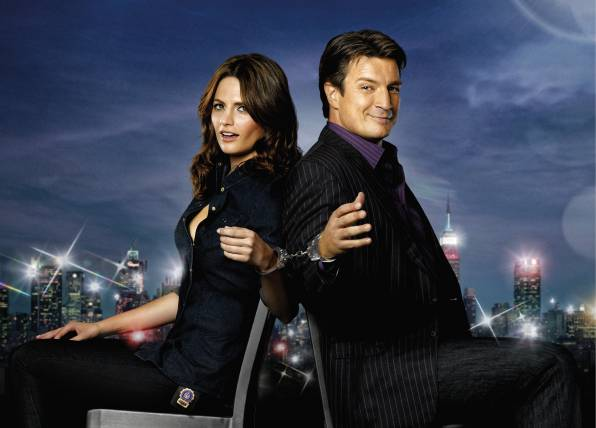 Обои Stana Katic, Nathan Fillion, Касл