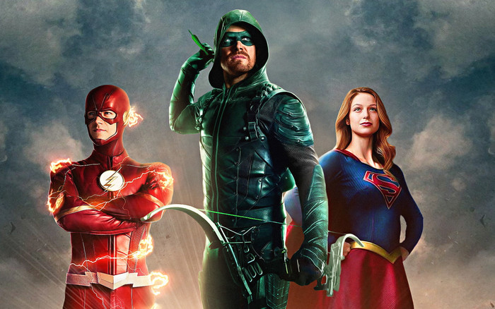 HD Wallpaper Arrow, Comics, Flash, Supergirl