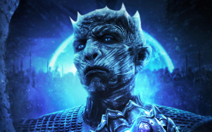 Wallpaper of Blue Eyes, Infinity Gauntlet, Night King background & HD image