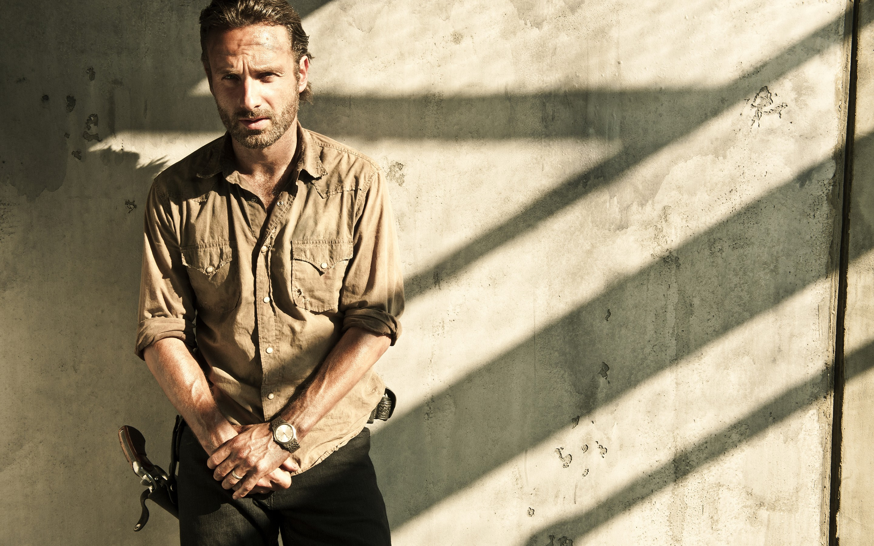 Wallpaper Of Rick Grimes The Walking Dead Tv Series Background