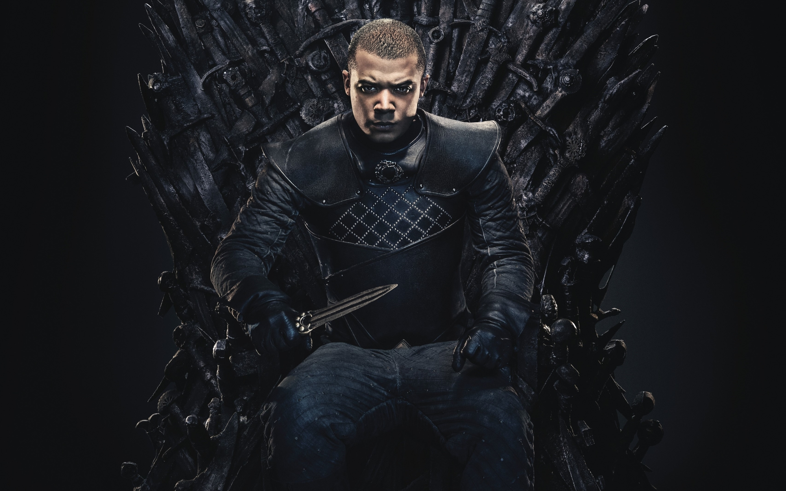 Wallpaper Of Grey Worm Jacob Anderson Game Of Thrones Throne