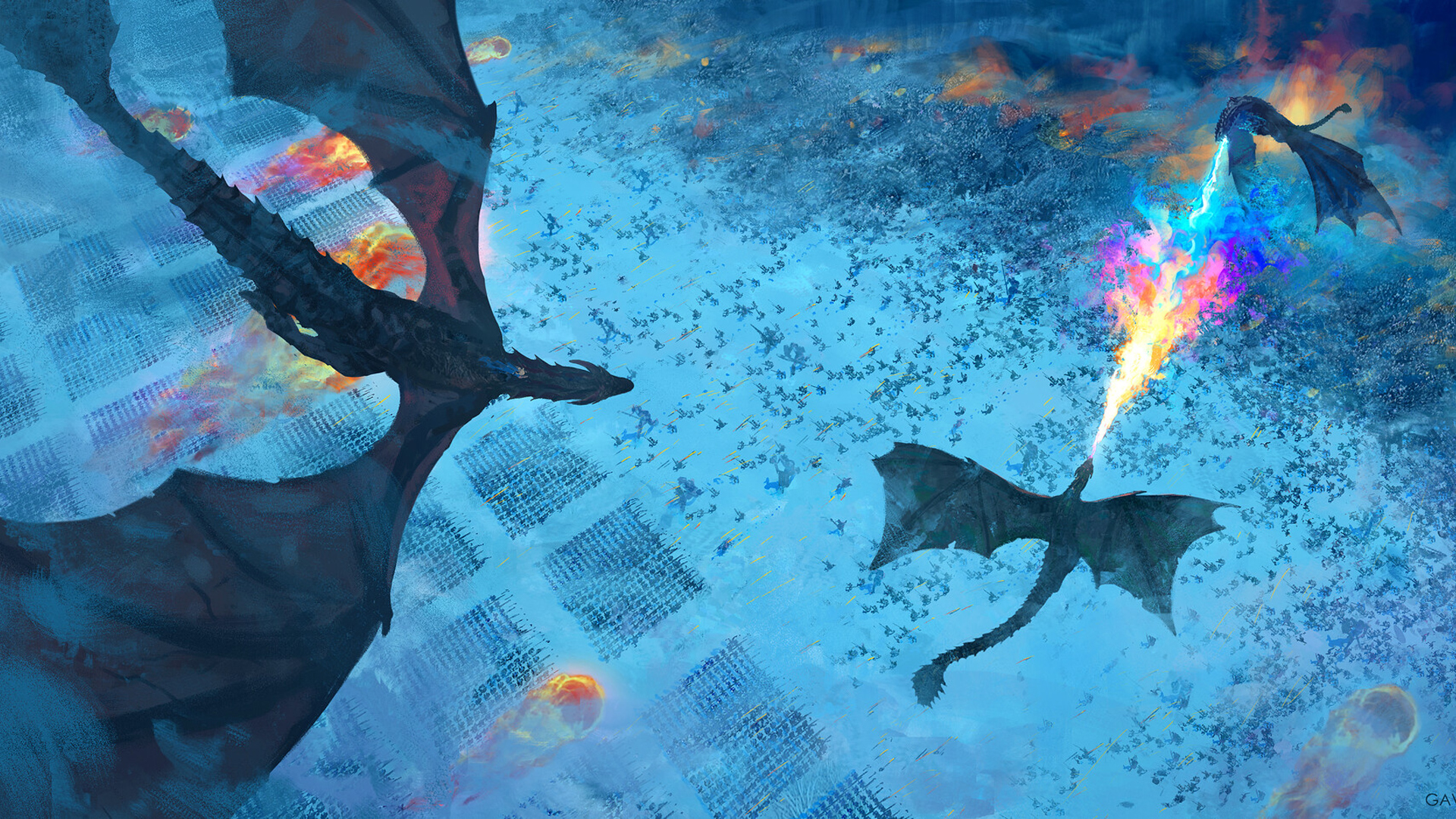 Wallpaper Of Battle Dragon Game Of Thrones Background Hd