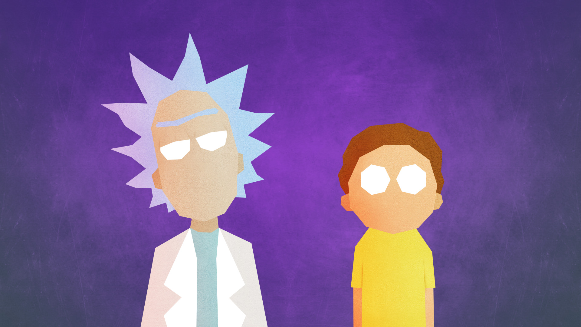 Wallpaper Of Minimalist Morty Smith Rick Sanchez