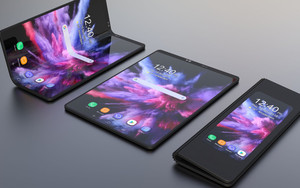 Preview wallpaper of Samsung Galaxy F, Foldable, Smartphone