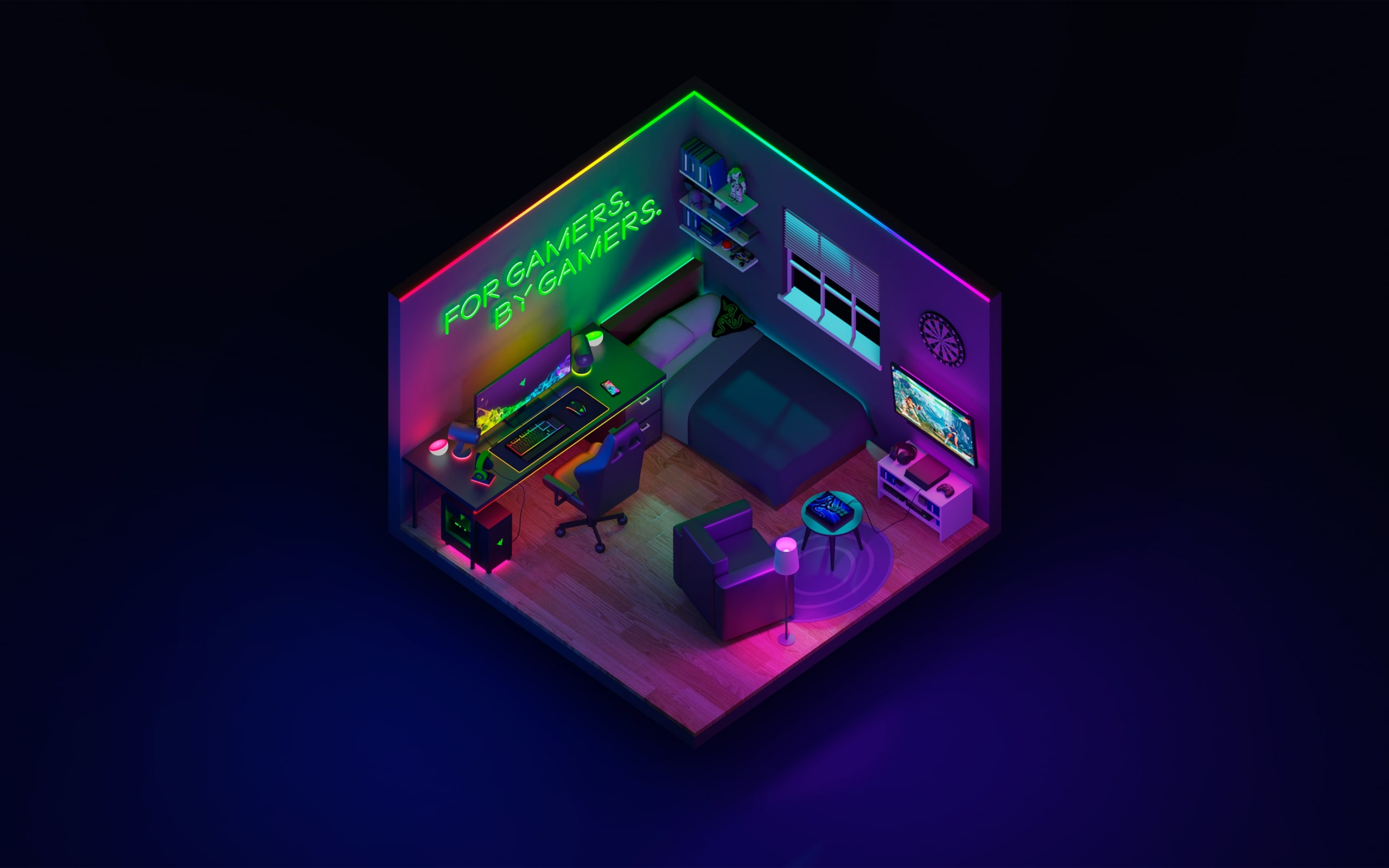 Wallpaper Of Technology Razer Room Background Amp Hd Image