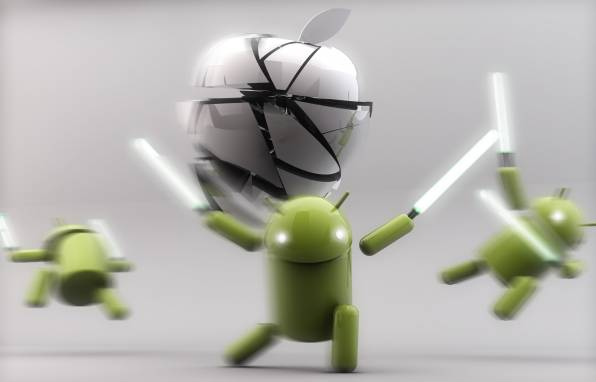 Обои Android, Apple, Lightsaber