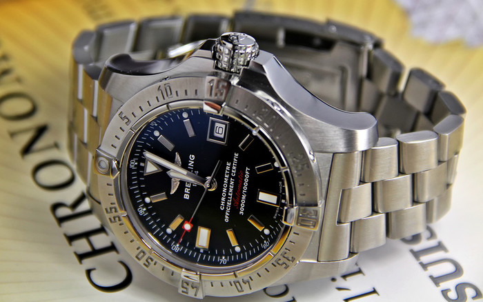 Wallpaper of Breitling, Watch, Wristwatch, Silver background & HD image