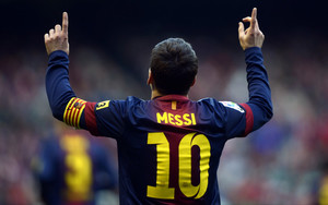 Preview wallpaper of Lionel Messi, Footballer, T-shirt, Barca