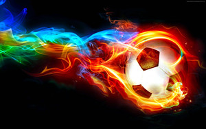 Preview wallpaper of Flaming Ball, Art, Scoccer, Goal