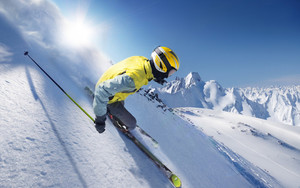 Preview wallpaper Skiing, Snow, Winter, Sport