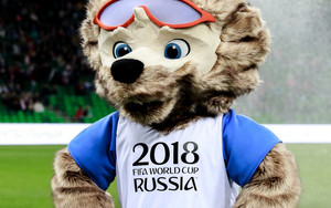 Preview wallpaper of Mascot, World Cup 2018, Fifa, Football