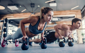 Preview wallpaper of Fitness, Man, Woman, Sport