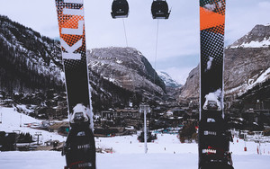 Preview wallpaper of Skiing, Cable car, The Mountains, Winter