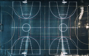 Смотреть обои Basketball, Playground, Marking, Geometry, Perfect