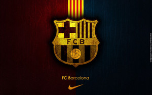 Смотреть обои Football, Emblem, Stripes, Club, Barca, Barcelona