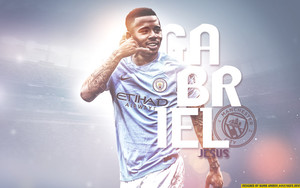 Preview wallpaper of Brazilian, Gabriel Jesus, Manchester City F.C.