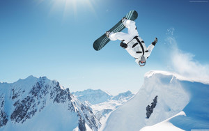 Preview wallpaper of Extreme, Snowboarding, Winter, Jump, Snow