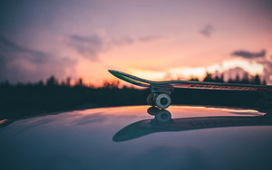 Preview wallpaper Skateboarding, Sunset, Sport