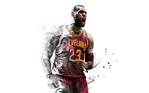 Preview wallpaper of Art, Sport, Basketball, LeBron James