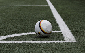 Смотреть обои Football, Soccer Ball, Lawn, Marking
