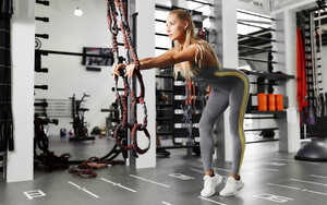 Preview wallpaper of Blonde, Fitness, Girl, Woman
