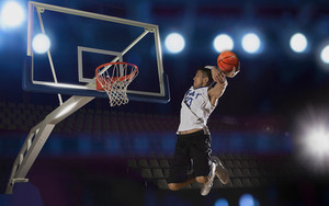Preview wallpaper of Sports, Basketball, Jump, Dunk, Ball