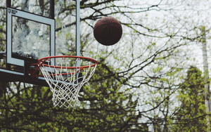 Смотреть обои Basketball, Ring, Throw, Ball
