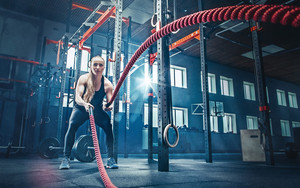 Preview wallpaper of Blonde, Fitness, Girl, Woman, Sport