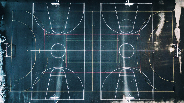 HD Wallpaper of Basketball, Playground, Marking, Geometry, Perfect