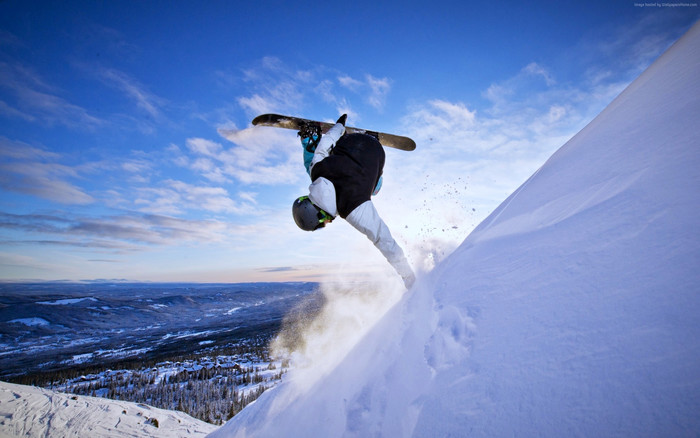 HD Wallpaper of Snowboarding, Winter, Snow, Sky