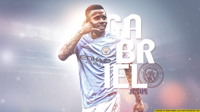 Wallpaper of Brazilian, Gabriel Jesus, Manchester City F.C. background & HD image