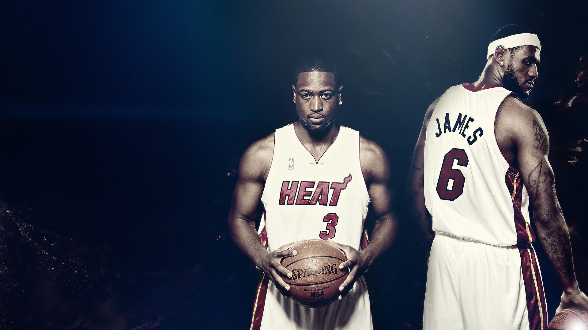 wallpaper miami heat, lebron james, dwyane wade desktop picture & hd