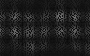 Смотреть обои Surface, Black and White, Dots