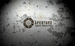 Смотреть обои aperture science, wall, peeling paint
