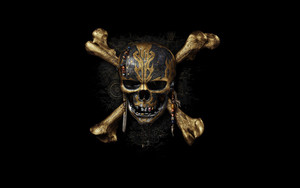 Preview wallpaper pirates of the caribbean, logo, symbol