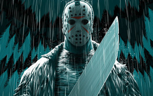 Preview wallpaper of Jason Voorhees, Mask, Movie, Friday The 13th, Art