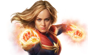 Preview wallpaper of Captain Marvel, Movie, Marvel, Poster, Fire