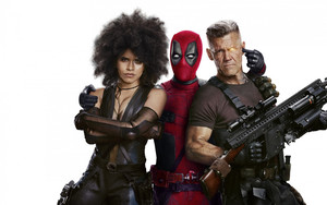 Смотреть обои Deadpool 2, Zazie Beetz, Ryan Reynolds, Josh Broli