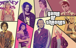 Preview wallpaper  <b>Art</b>, Grand Theft Auto, Porody, Game of Thrones