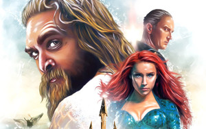 Preview wallpaper  <b>Movie</b>, Aquaman, Art, Jason Momoa