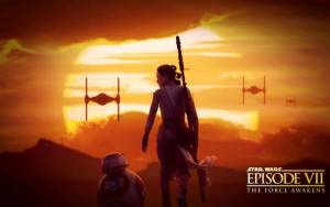 Смотреть обои Star Wars: Episode VII, Daisy Ridley, BB-8