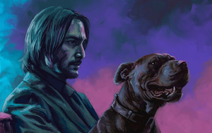Preview wallpaper Movie, Dog, John Wick, Keanu Reeves, Candra Hope