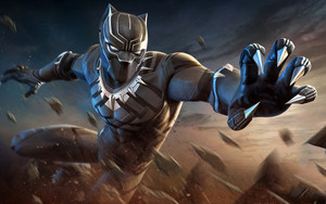 Смотреть обои Black Panther, Comics, Marvel, Film