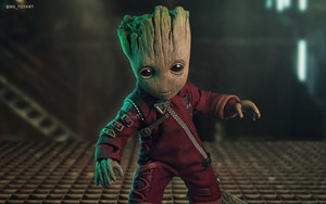 Смотреть обои Movie, Guardians of the Galaxy, Groot, Baby, Cute
